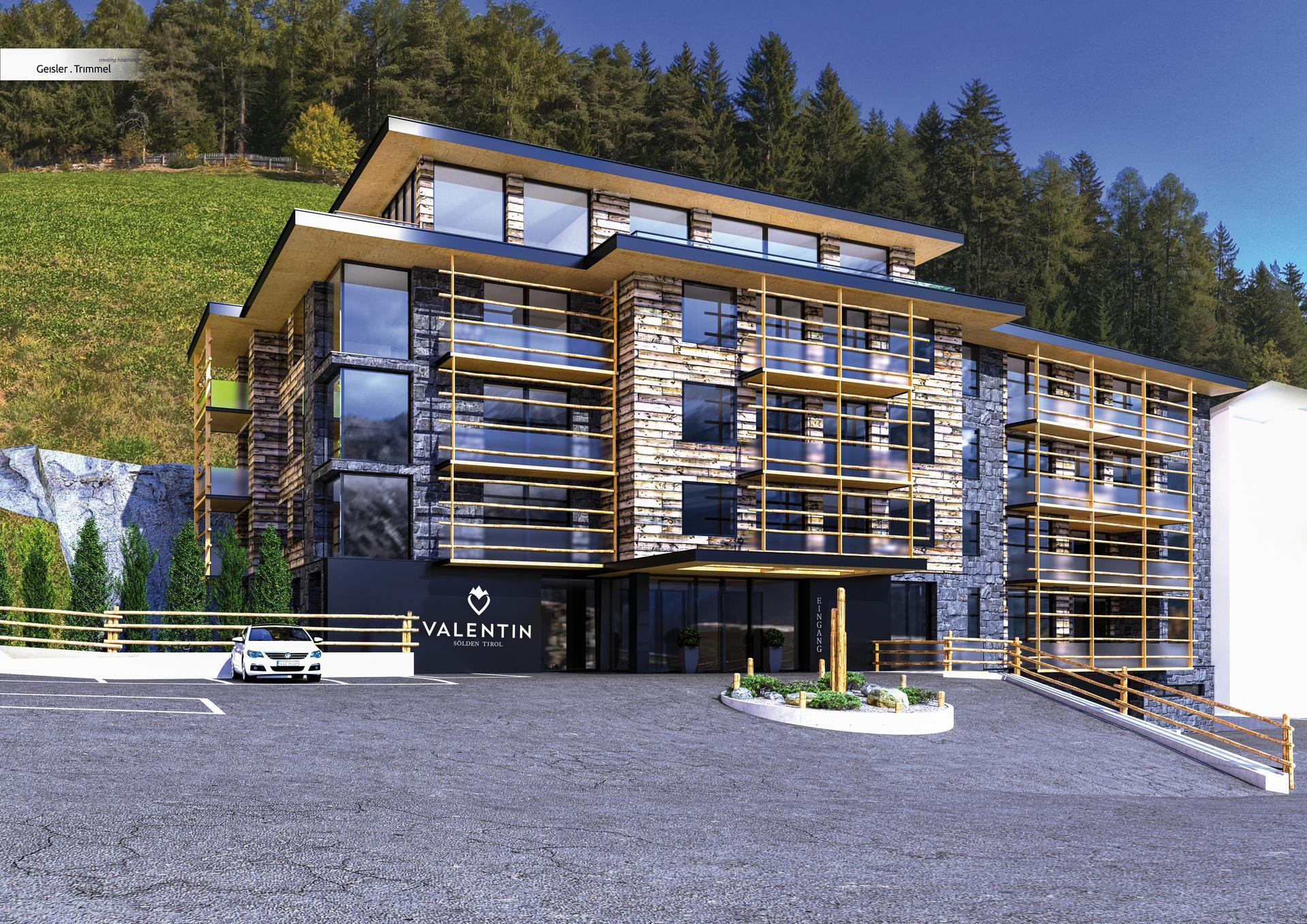 Neue design apartments valentin in s lden for Designhotel skigebiet