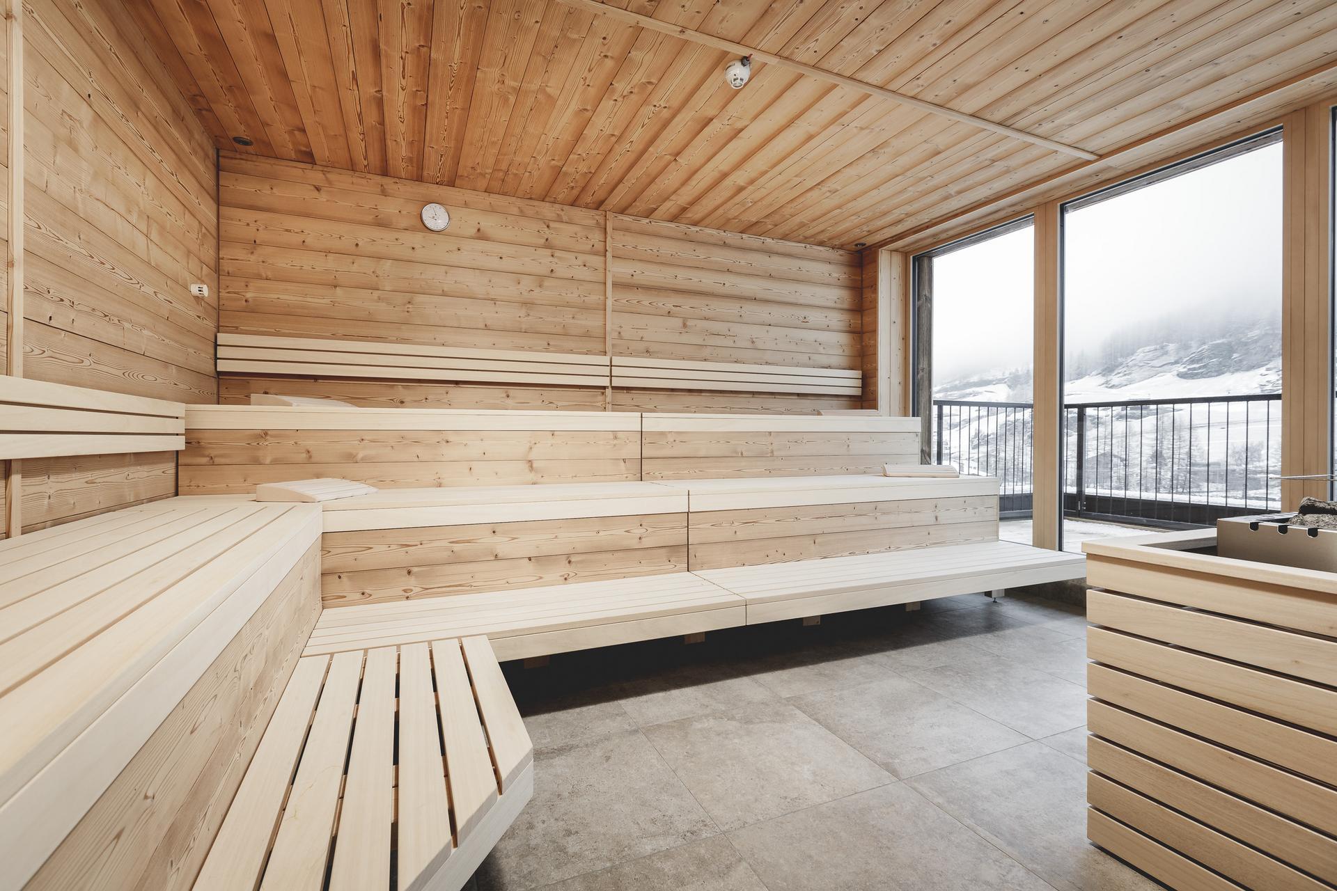 Sauna Design sauna and relaxation area